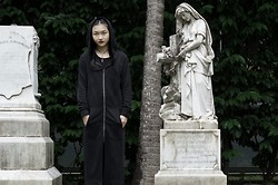 Brandi Foo - H&M Long Hooded Dress, Theoracle Rosary Choker - The mother we share