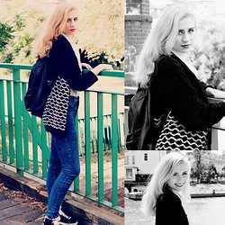 Mel F - Monki Backpack, Urban Outfitters Cardigan, Divided Skinnies, Nike Shoes - Traveling Girl.