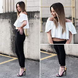 Friend in Fashion * - Off The Shoulder Top, High Waisted Pants - OFF THE SHOULDER