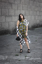 Flaviana B. - H&M Kimono, Asos Dress, Jil Sander Bag, Vagabond Shoes - Print