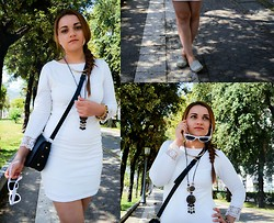 Deborah D - Boohoo Dress, H&M Crossbody Bag - In white we trust