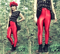 Karina Małecka - River Island Pants, Topshop Shoes, Atmosphere Top - Disco Pants