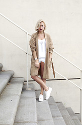 Lian G. - Mango Cardigan, Mango Top, Michael Kors Shoes - Beige Cardi
