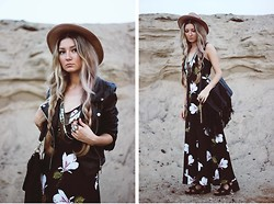 ♡Anita Kurkach♡ - Sheinside Dress, Sheinside Bag, Sheinside Jacket, Asos Hat, Romwe Shoes - Freedom.