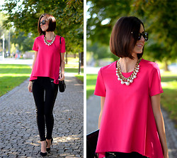 Daisyline . - Mohito Pants, Mohito Blouse - Simple pink & black