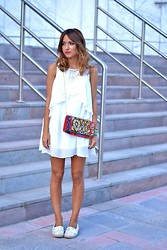Just Coco - Chic Wish Dress, Lastcallanna Bag - WHITE ON ME