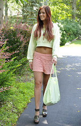 Monika S - Stella Mccartney Cropped Top, Vince Camuto Sandals - Flashback Friday