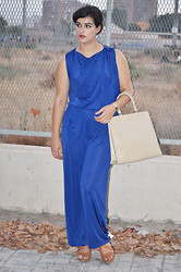 Amanda R. - Sfera Jumpsuit, Vintage Bag, Zara Shoes - Blue jumpsuit - Something Fashion
