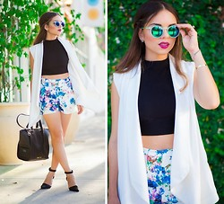 Daniela Ramirez - Lovers + Friends Shorts, Forever 21 Vest, Danielle Nicole Bag - Kind of love