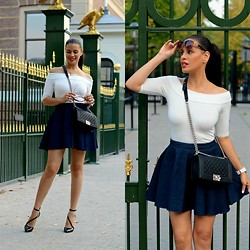 Tamara Chloe - Zara Skirt, Zara Heels, Chanel Bag, River Island Top, Armani Exchange Watch - Boy Oh Boy