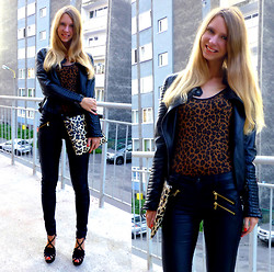 Ania Zarzycka - Frontrowshop Bag, Tally Weijl Leather Pants, Tally Weijl Top - Don't pray for an easy life, pray for the strength to endure