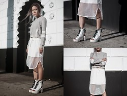 Eugénie Grey - Punkiss Sporty Sweatshirt, Punkiss Mesh Out Skirt, Element 7 Bree Body Chain, Privileged Woo Bootie - Work It Out