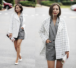 Queen Horsfall - Haute Rogue White Check Tweed, Chic Wish Classic Office, Shoes - Fall Essential