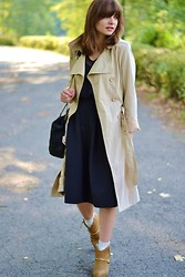 L T - H&M Skirt, Vero Moda Trench - Trenchy in black