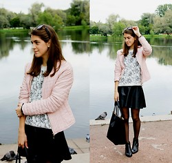 Alina Krasnaya - Topshop Boots, Mango Sweater, H&M Skirt, Ray Ban Sunglasses, Befree Bag - SEPTEMBER UNIFORM