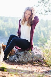 Josefine ☆ - Colosseum Top, H&M Cardigan - An autumn morning, soft and mild