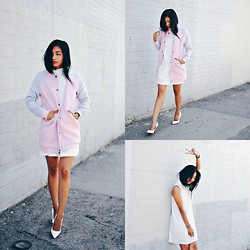Heliely Bermudez - Missguided Lonline Bomber, Missguided Shift Dress - 091614
