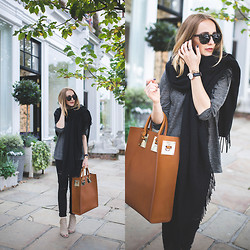 TIPHAINE MARIE - Sweater, Scarf, Wedges, Bag, Sunglasses - Notting Hill.