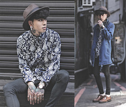 IVAN Chang - Tastemaker 達新美 Blue Shirt, Tastemaker 達新美 Trench Coat, Topman Black Skinny Jeans - 0170914 TODAY STYLE