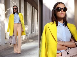 Rita Galkina - Rebecca Minkoff Bag, Zara Coat - Colorful Autumn