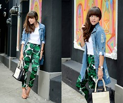 "Gaby Gómez MODA CAPITAL - Sheinside Jacket, Abaday Pants, Marc By Jacobs Bag, Steve Madden Heels, Daniel Wellington Watch - ""Jungle pants"""