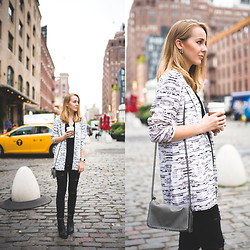 TIPHAINE MARIE - Blazer, Bag, Jeans, Boots, Earrings - The Meatpacking District.