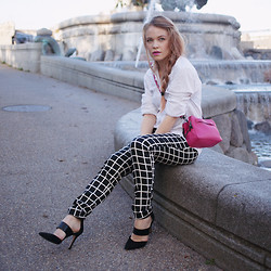 Stine Mo - Selected Mens Shirt, French Connection Uk Bag, Second Female Trousers, Aldo Heels - Pop of pink