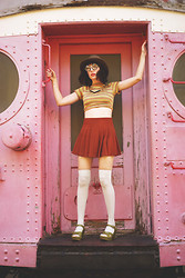 Amy Roiland - Forever 21 Skirt, Home Cooked Karma Top, Kork Ease Sandals - Wes Anderson?
