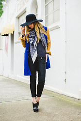 Jess Dempsey - American Apparel Hat, Louis Vuitton Scarf, Wish Sweater, Carven Coat, Zara Pants, Boohoo Shoes, Disney Couture Ring - That Coat
