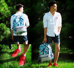 Chris Su - Aape Shirt, Navigare Bag, Adidas Zx Flux Sneakers - Once Student