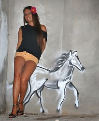 ManueLita - Unconventional Secrets T Shirt, Elisabetta Franchi Shorts, Prada Shoes - Easy Ibiza
