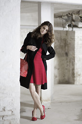 Andrea Andrea - Karen Millen Coat, Karen Mille Dress - HOT LIKE CHILI