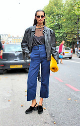 Gizele Oliveira - The Ragged Priest Top, Asos Pants, Regalnose Choker, Topshop Clutch, Yru Shoes - LFW Fringes