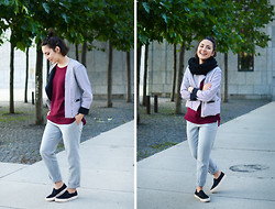 Yin Pang - Frontrowshop Jacket, H&M Pants, H&M Sweater, Asos Shoes - LAZY STRUCTURE