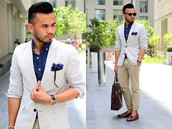 Paul Ramos - H&M Linen Blazer, American Eagle Outfitters Polkadot Shirt, American Eagle Outfitters Khaki Pants, Dapper Dubai Shop Pocket Square, Iconic Tassel Loafers - TAKE THIS MOMENT