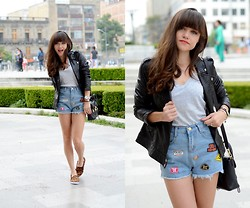 "Gaby Gómez MODA CAPITAL - Choies Shorts, Stradivarius Jacket, 3.1 Phillip Lim Bag, Windsor Shoes - ""Waist denim shorts"""