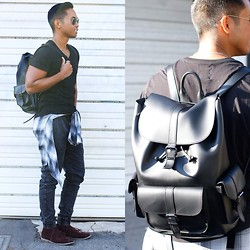 Marion Bermudez - Ezekiel Clothing Joggers, Aldo Backpack - Back to School