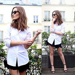 Anouska Proetta Brandon - Asos Shirt, H&M Shorts, Ray Ban Rayban Sunglasses, Office Heels - Parisian Rooftop.