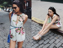 Amy Marietta - Lookbook Store Romper, Fascinating Diamonds Necklace, Shauns California Sunglasses - TREAT YO SELF