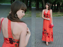 Anna Aleshina - Jarlo Dress, New Look Across Body Bag, New Look Flat Sandals - Evening walk