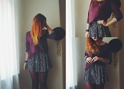 Polly Alba - Sheinside Skirt, H&M Top, Primark Tights - HEARTBEATS