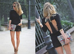 Mónica Sors - Suiteblanco Sweater, Sheinside Shorts, Suiteblanco Shoes - Black is back