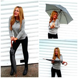 Maria Pasiali - Pull & Bear Sweater - T's raining, raining..Ooh baby, it's raining, raining