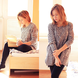 Wioletta Mary Kate - Romwe Sweater - Autumn Morning