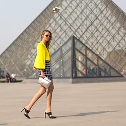 Dasha Gold - Shakuhachi Dress, Sheike Jacket, French Connection Uk Bag, Wanted Shoes - Le Louvre