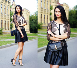 Anna Mour ♥ - Chic Wish Dress, Marc By Jacobs Purse - Leather and lace