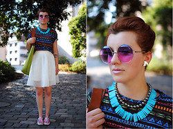 Monique K.... - Sunglasses, Skirt - Summer