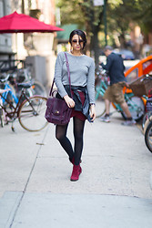 Amy Marietta - Majestic Top, Fascinating Diamonds Necklace, Gigi New York Bag, Shauns California Shades - Mad for Maroon