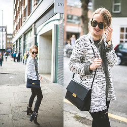 TIPHAINE MARIE - Blazer, Jeans, Bag, Sweater, Boots - Shoreditch.