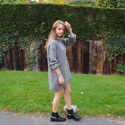 Lauren Wilson - Zara Jumper, F&F Boots - Jumper dress